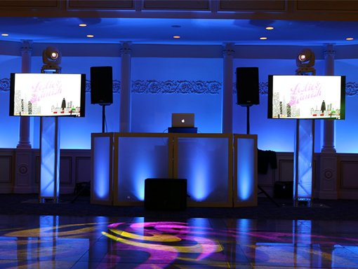 Sweet 16 TV screens dj services